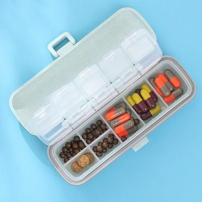 Таблетница ECO Pillbox на 7 отделений, бирюзвая