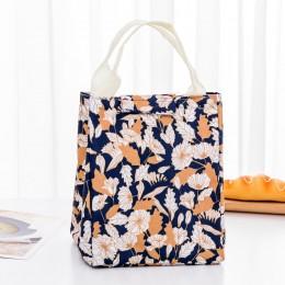 "Сумка для ланча (lunch bag) ""Blossom"" серо-голубая на липучке"