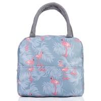 "Сумка для ланча (lunch bag) ""Flamingo"" на молнии с карманом"