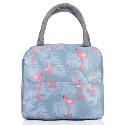 "Сумка для ланча (lunch bag) ""Flamingo"" на молнии с карманом"