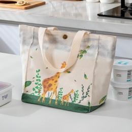 Сумка-термос со съёмным фольгированным карманом Tote, жирафы