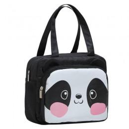 Темосумка для ланча/lunch bag с карманом Панда, черная