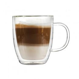 Стеклянная чашка с двойными стенками, 475 мл, широкое горлышко