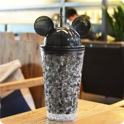 Охлаждающий стакан с трубочкой Mickey Mouse, черный