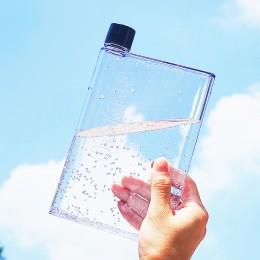 Плоская бутылка для воды А5 Memo, 420 мл, черная