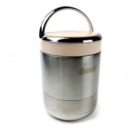 Термос для еды/супа металлический, 1л Vacuum - розовый