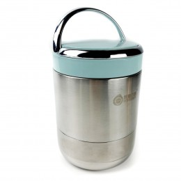 Термос для еды металлический, 1.7л Vacuum - голубой