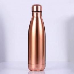 Металлическая термо бутылка, 500 мл, медная