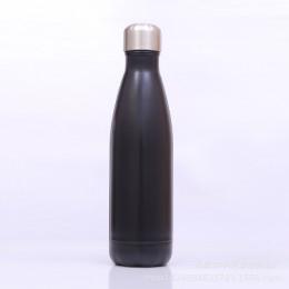 Металлическая термо бутылка, 500 мл, черная