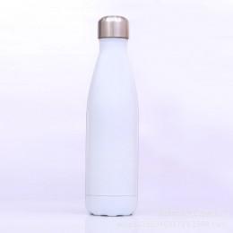 Металлическая термо бутылка, 500 мл, белая