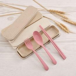 Набор столовых приборов Эко 3 в 1, розовый