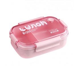 Ланч бокс для еды из эко пластика Delicious 1100 мл, розовый