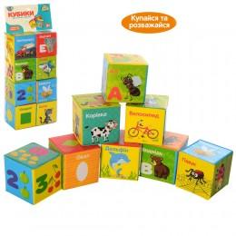 Кубики для купания Limo Toy, 8 штук, буквы-слова