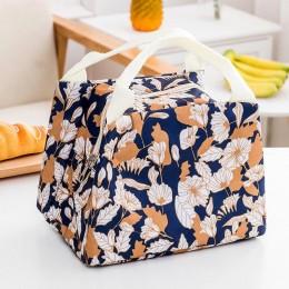"""Сумка для ланча (lunch bag) """"Blossom"""" серо-голубая на молнии"""