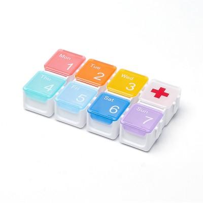 Таблетница Tetris на неделю, радужная