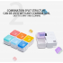 Таблетница с таймером напоминанием на 7 дней Tetris, радужная
