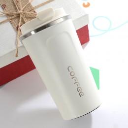 Металлическая термокружка Coffe Tumbler 500 мл - белая