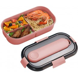 Ланч бокс со съёмным контейнером для приборов Japanese 1.2л - розовый