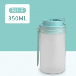 Портативная бутылка для напитков Japanese 350 мл - голубая