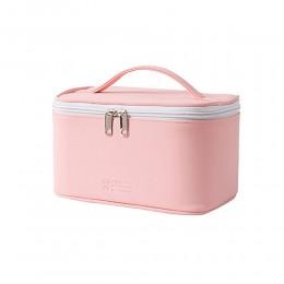 Дорожная косметичка, органайзер для путешествий  PU розовая