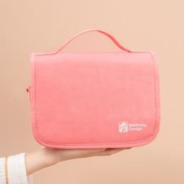 Косметичка для путешествий прозрачная внутри Design Розовая