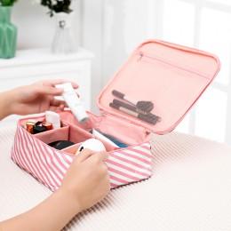 Дорожный органайзер для косметики со съёмными секциями Розовый М