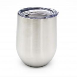Металлическая термочашка / tumbler Серебро, с крышкой, 350 мл